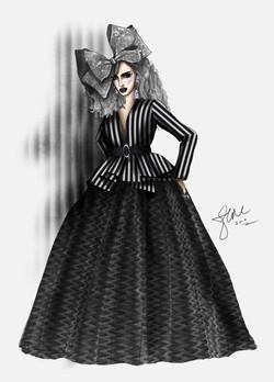 Alyssa Edwards Black and White Eleganzza