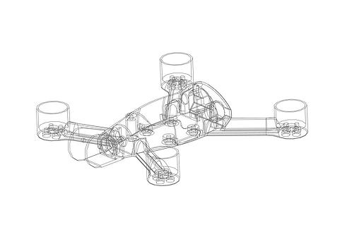 STL file of UR2 drone frame