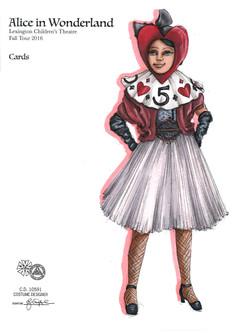 Card from Alice in Wonderland