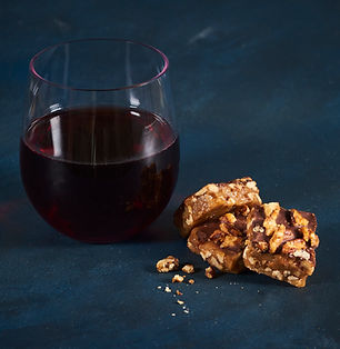 Toffee paired with red wine