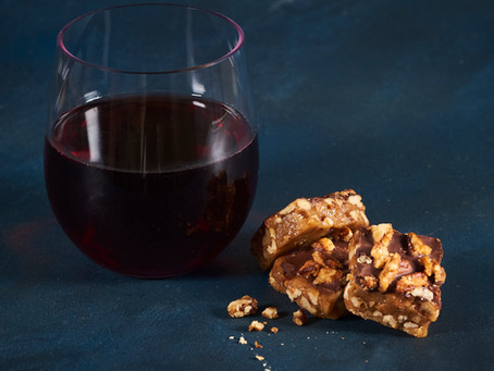 Have a glass of wine with our delicious toffee!