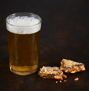 Toffee paired with beer