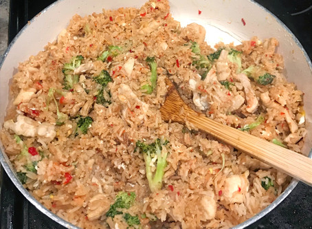 For the Love of……Thai Inspired Fried Rice with Chicken and Broccoli