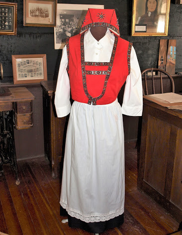 Your family could have come from Norway. This is a traditional costume the women and girls wore at the time of their Independence Day.
