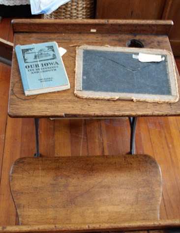 You may have used a desk similar to this one. The slate on the desk was used instead of paper.