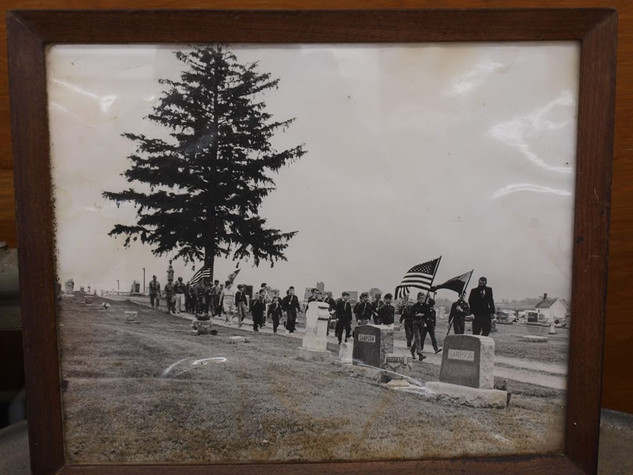 Memorial Day at the Roland Cemetery – date unknown.