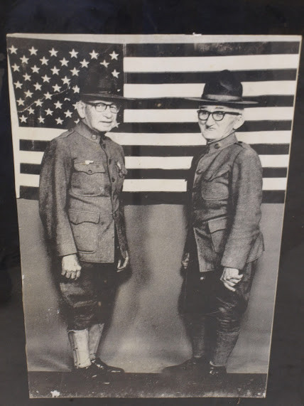 Conrad Fagerland and Arthur M Michaelson (Mick) - WWI