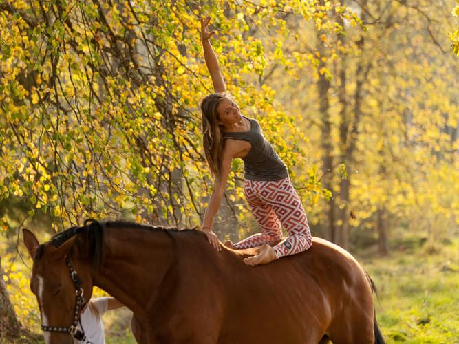 JOGA zirgā