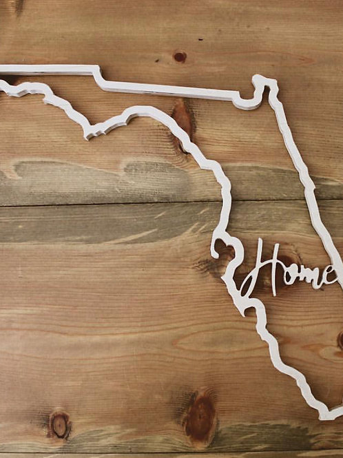 "Florida ""Home"" Cut Out"
