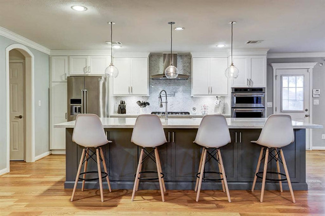 Grey House Remodel Kitchen