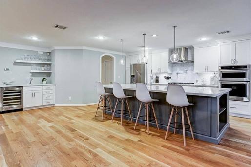 Grey House Remodel Kitchen Bar