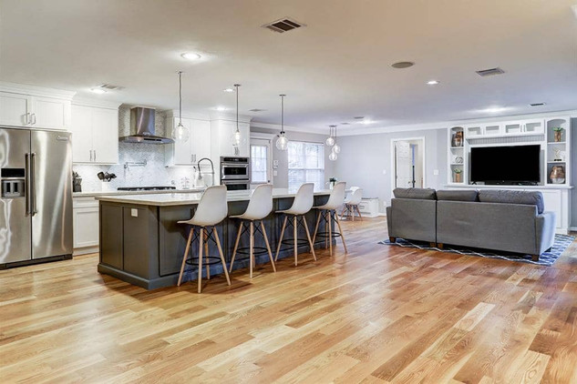 grey house remodel LR