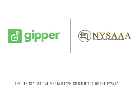 Gipper Signs Partnership to Become the Official Social Media Graphics Solution of the NYSAAA