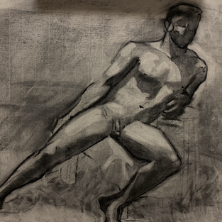 Charcoal on paper