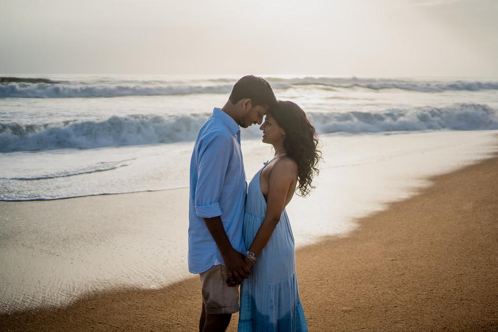 beach shoot of couple