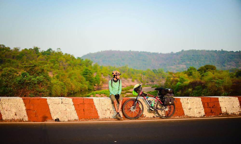 Bicycle touring in Goa, India
