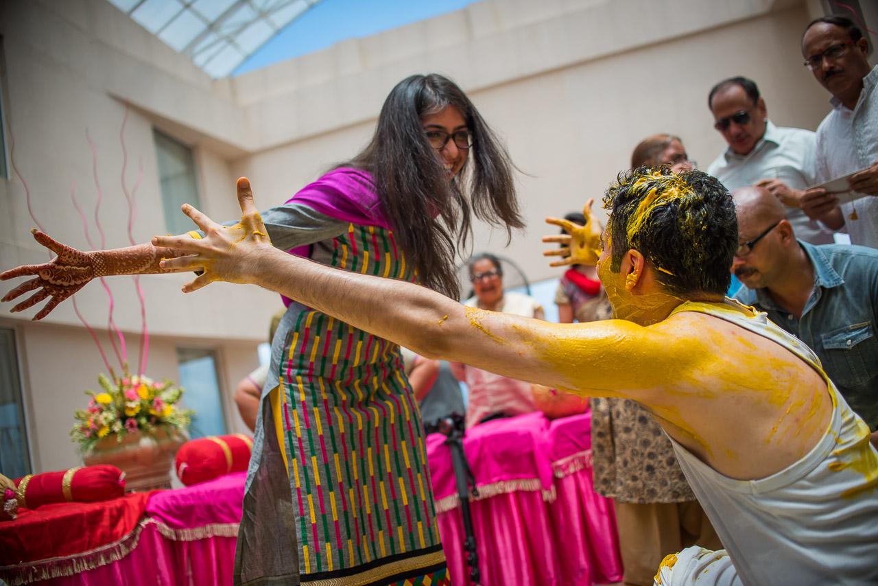 Haldi candid moments Dehradun