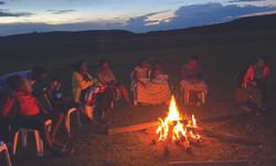 Camp Fire at Munyanyange Caves