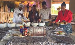 Breakfast at Munyanyange Caves