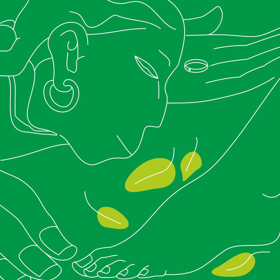Shradha Shakti : Hanuman touching Sita's feet. The faith in Him takes away all the worries.