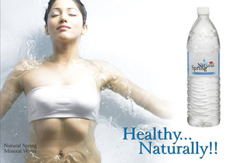 Natural Spring Mineral Water.