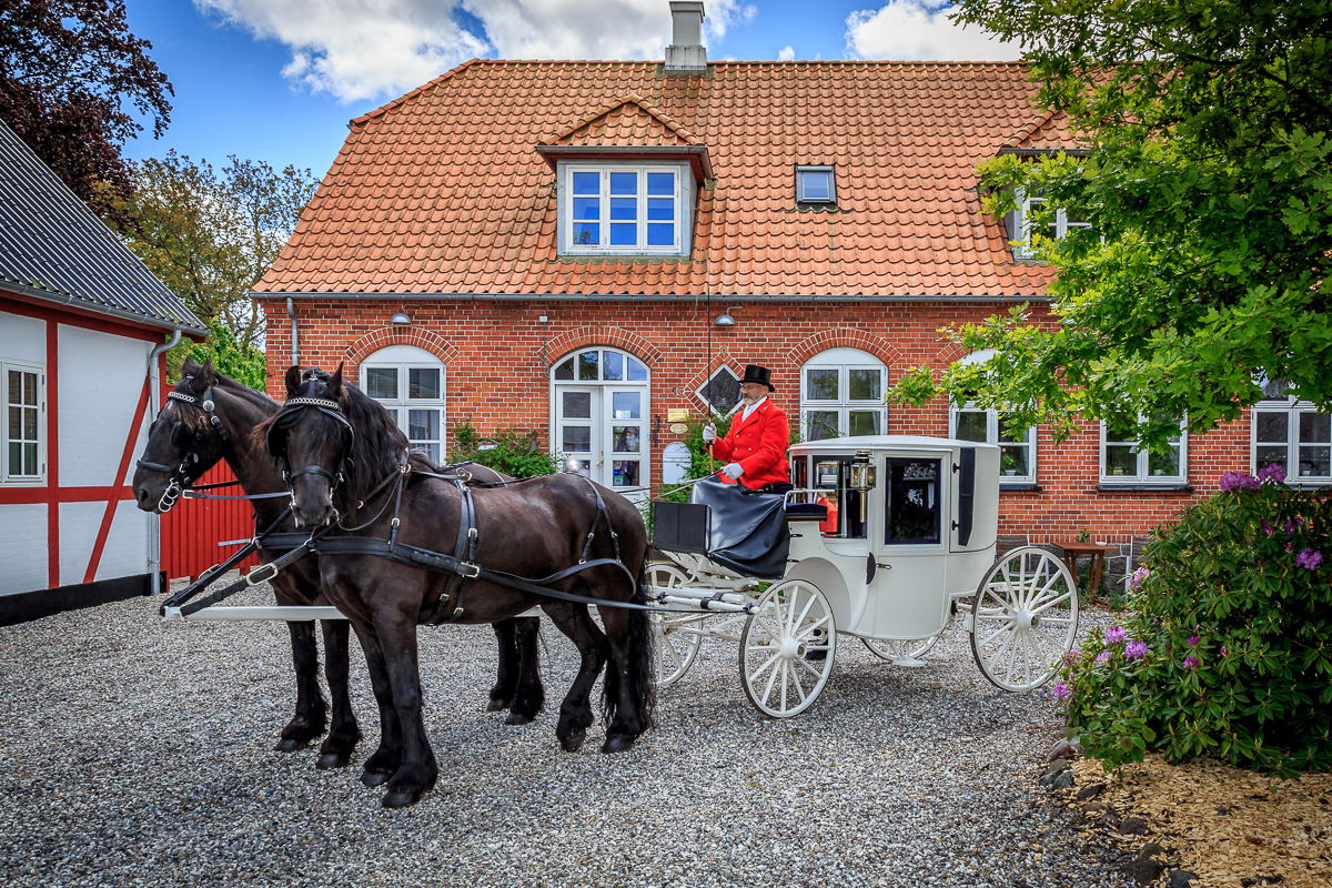 Horse carriage at Jungshoved Præsteg