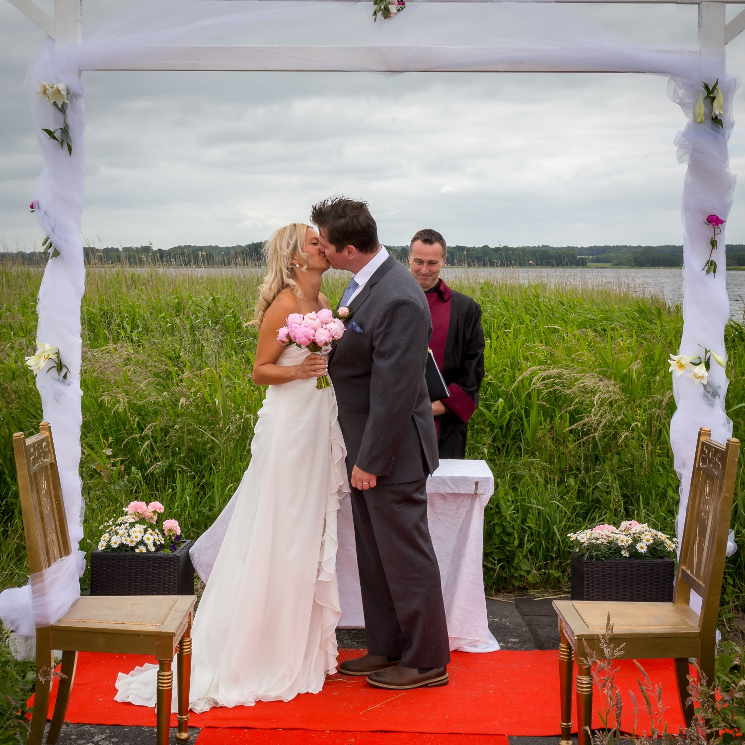 Ceremony by the water bank