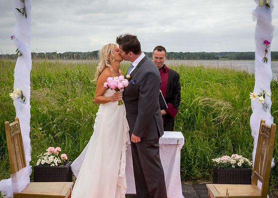 Wedding ceremony by the sea