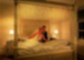 Wedding couple in luxury hotel