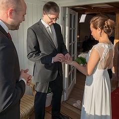 Wedding on balcony