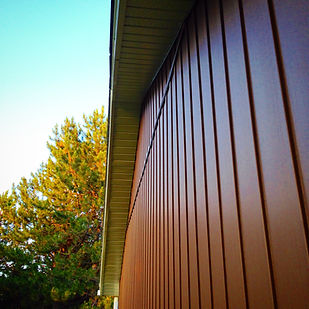 Board and Batten Vinyl Siding - DaVinci Coffee Brown