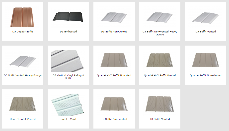 Vented and non Vented soffit options, vented, soffit orangevile, aluminum soffit