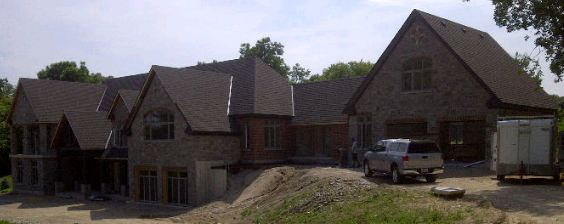 Steep pitched shingle roofing replacement near me