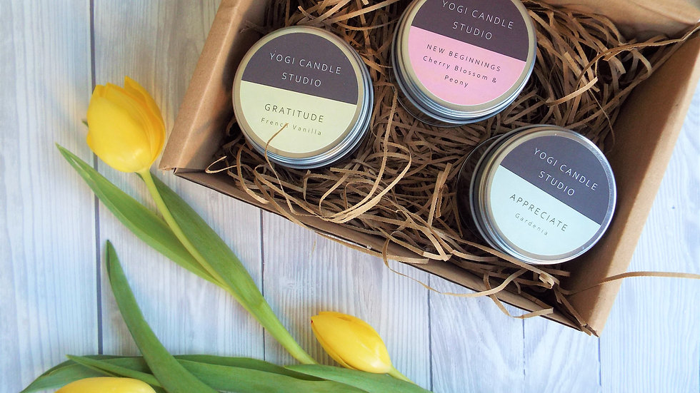 Tin Candle Trio Gift Box