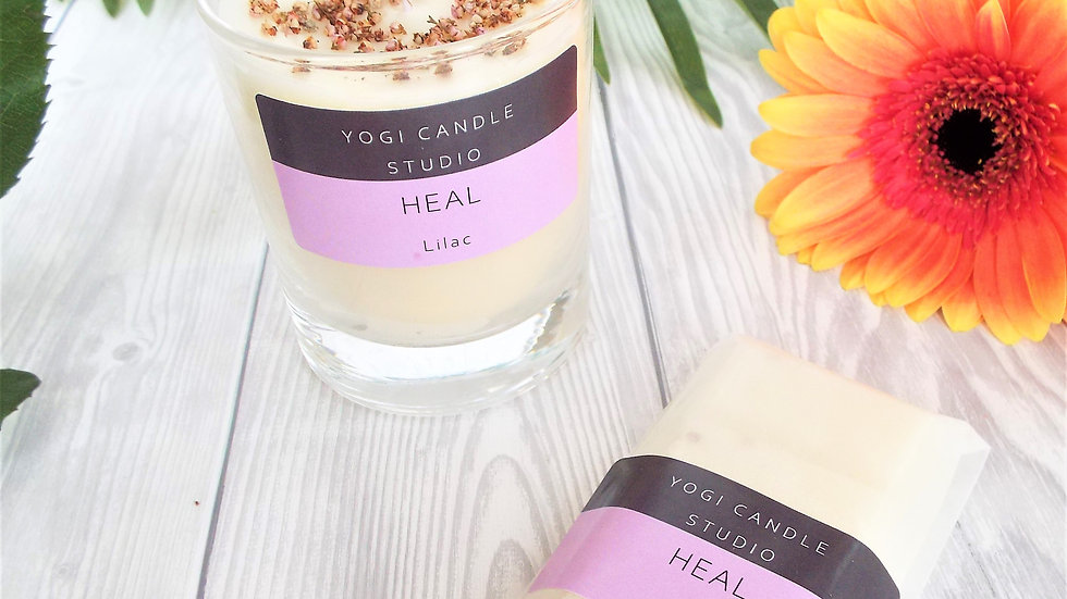 Heal - Lilac Scented Soy Candle & Wax Melt