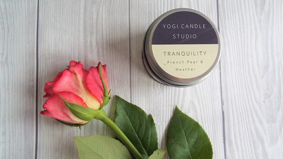 Tranquillity - French Pear Soy Candle Tin