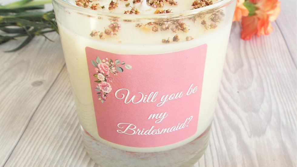 Will You Be My Bridesmaid? Soy Wax Scented Candle 200ml