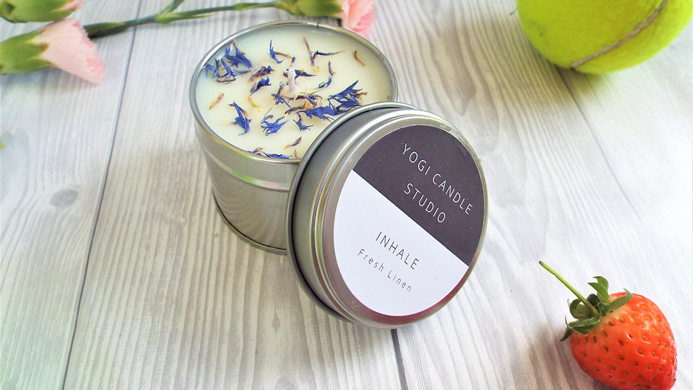 Inhale - Fresh Linen Scented Soy Candle