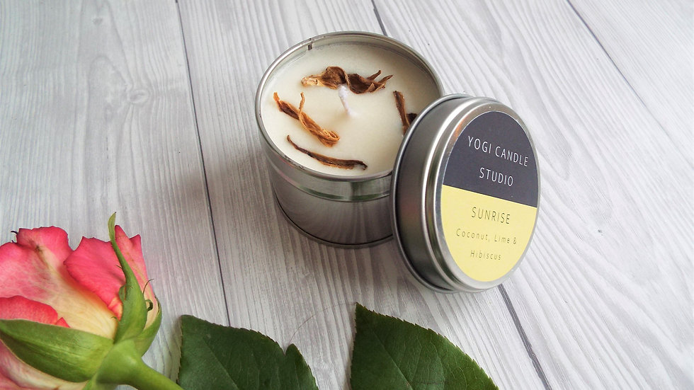Sunrise - Coconut & Lime Soy Candle Tin