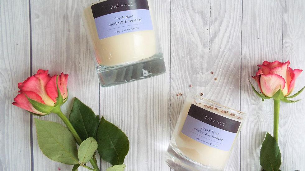 Balance - Fresh Mint, Rhubarb & Heather Soy Candle