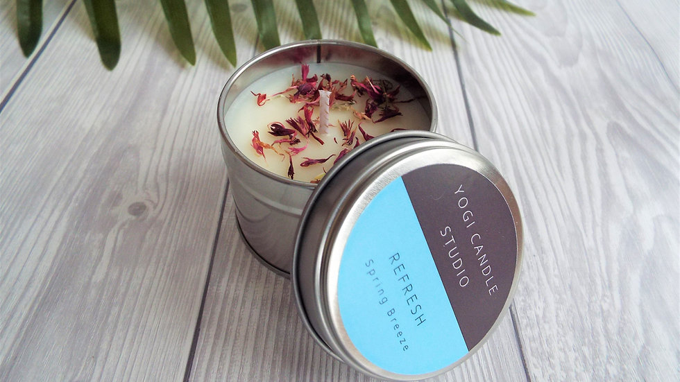 Refresh - Spring Breeze Scented Soy Candle