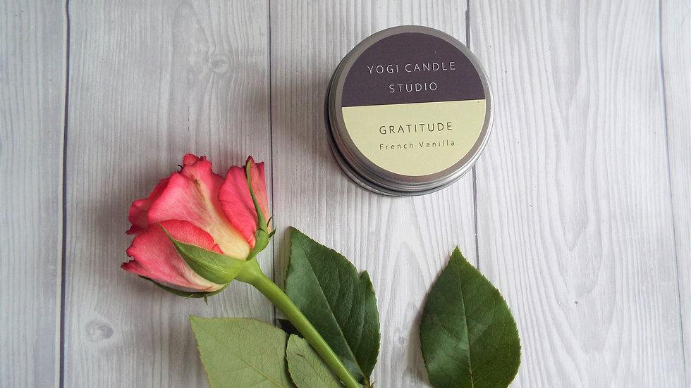 Gratitude - French Vanilla Soy Candle Tin