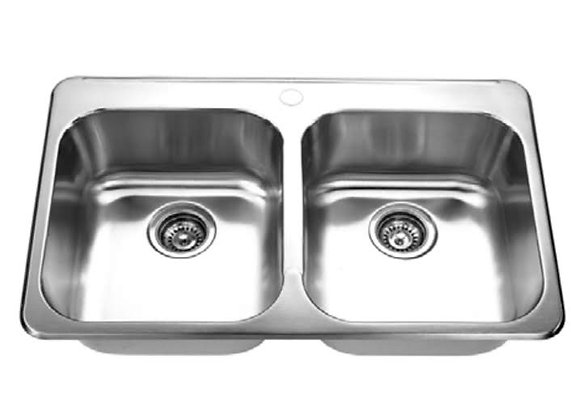 Double Bowl Top Mount Kitchen Sink