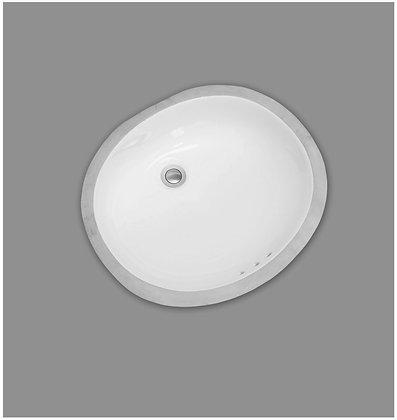 MAINLINE ML500W Oval Under-Mount Bathroom Sink - White
