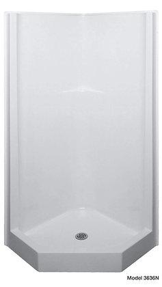 "Model 3636N Bathcove(TM) 36 3/4"" x 36 3/4"" Neo Angle Shower, White"