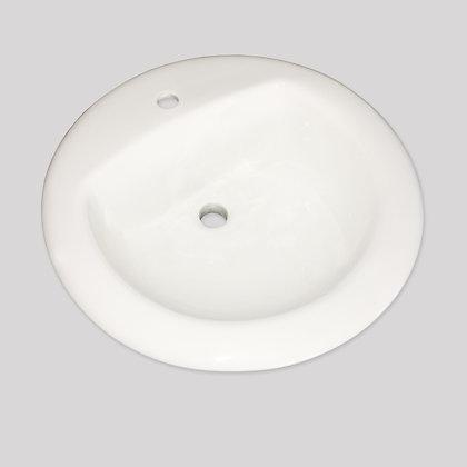 MAINLINE ML400W-1 Oval Drop-In 1H Bathroom Sink - White