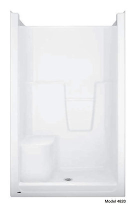 "Model 4820/21 Bathcove(TM) 48"" x 36 1/4"" Shower with Left-Hand Seat, White"