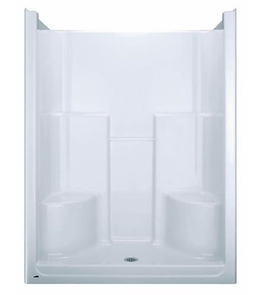 "HYTEC S600-0 Bathcove(TM) 60"" 36"" Shower with Two Seats, White"