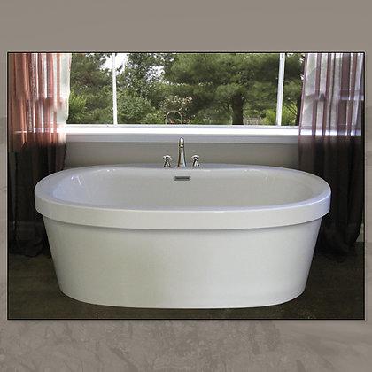 MIROLIN IND CORP Brook Acrylic Freestanding Center-Drain Oval Soaker Bathtub