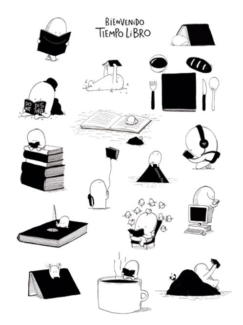 Tiempo Libro -Print Ilustración Dalmaus